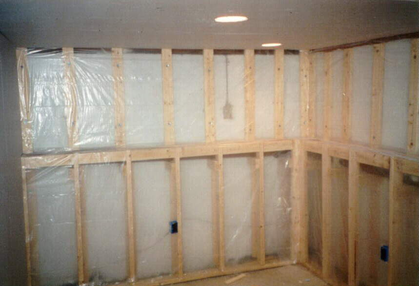 Basement Wall Framing build a home bar - framing